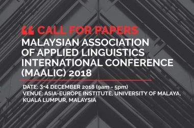 Malaysian Association of Applied Linguistics International Conference (MAALIC) 2018